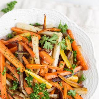 Sautéed Rainbow Carrots.