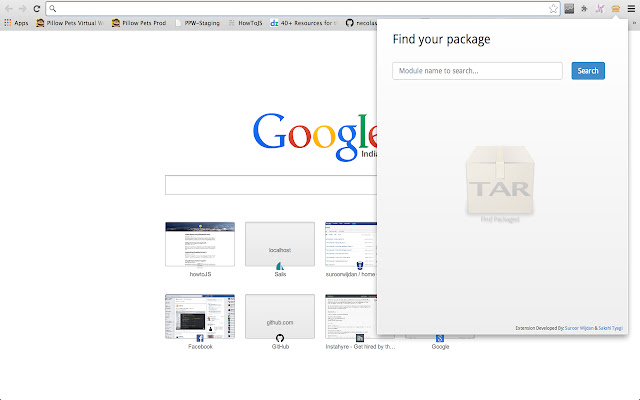 Node Package Finder