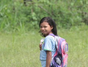 Photo: On the way to school in the forest