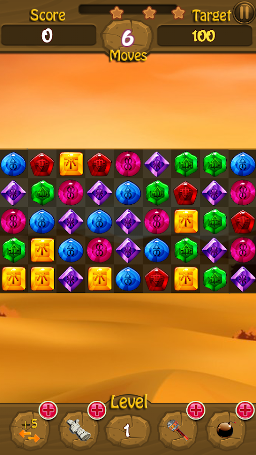pyramid jewel game