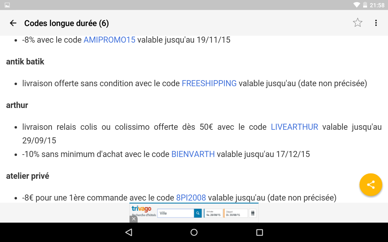 Max de bons plans android apps on google play - Bon de reduction vente unique ...