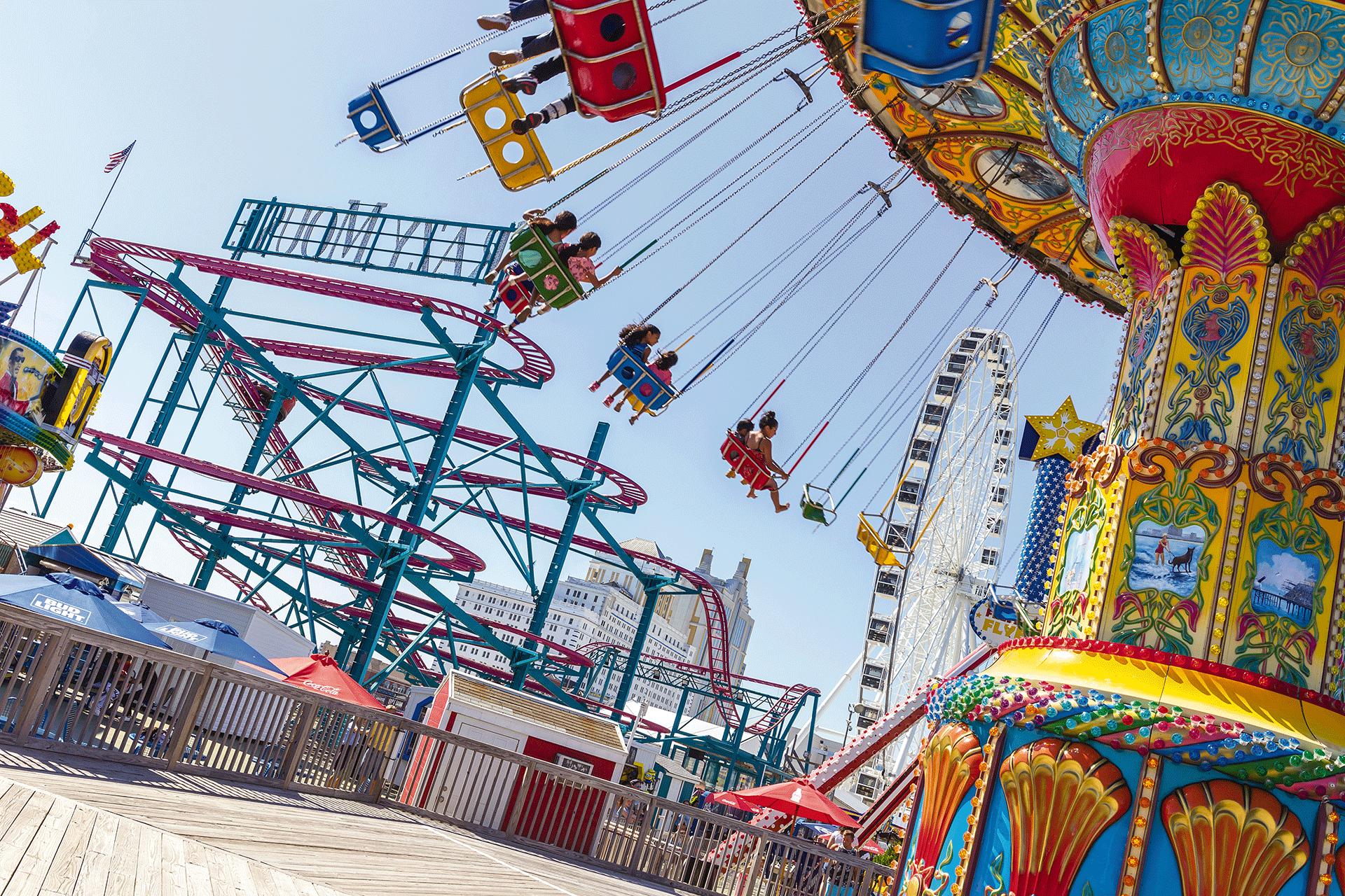 Daytona Beach Boardwalk And Amut Rides Near Wyndham