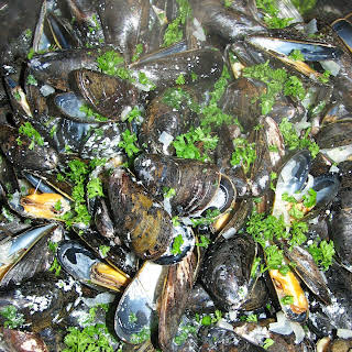 Mussels in Creamy Sauce.
