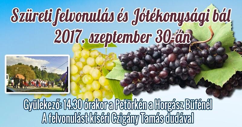 Szüreti felvonulás és Jótékonysági bál 2017. szeptember 30-án