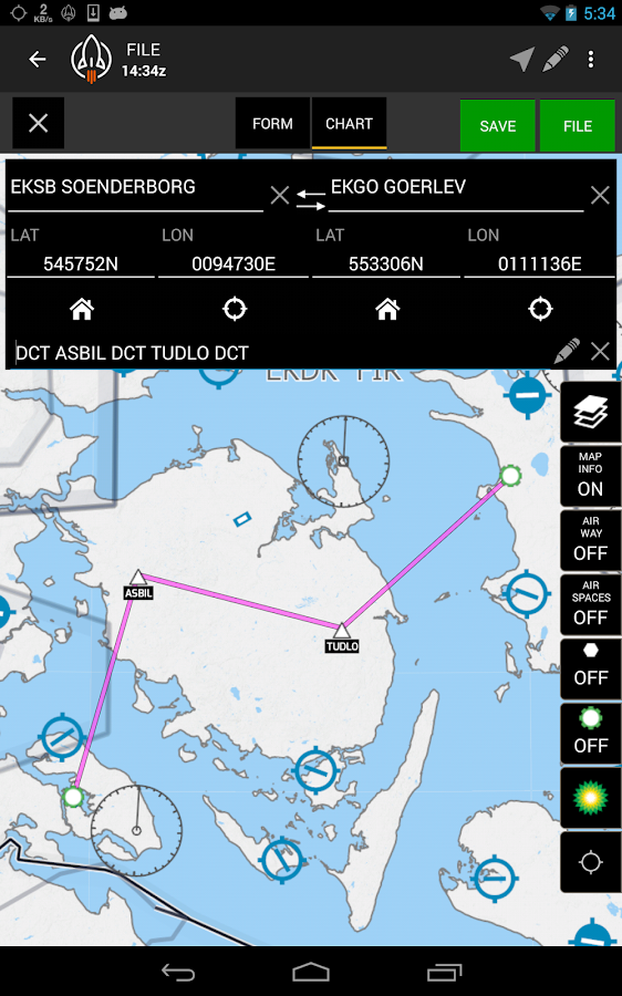 RocketRoute FlightPlan- screenshot