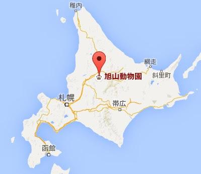 地図:旭山動物園