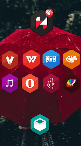 Hexagon Icon Pack Pro app (apk) free download for Android/PC/Windows screenshot