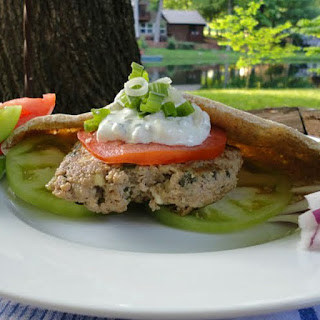 Greek Inspired Ground Turkey Burgers.