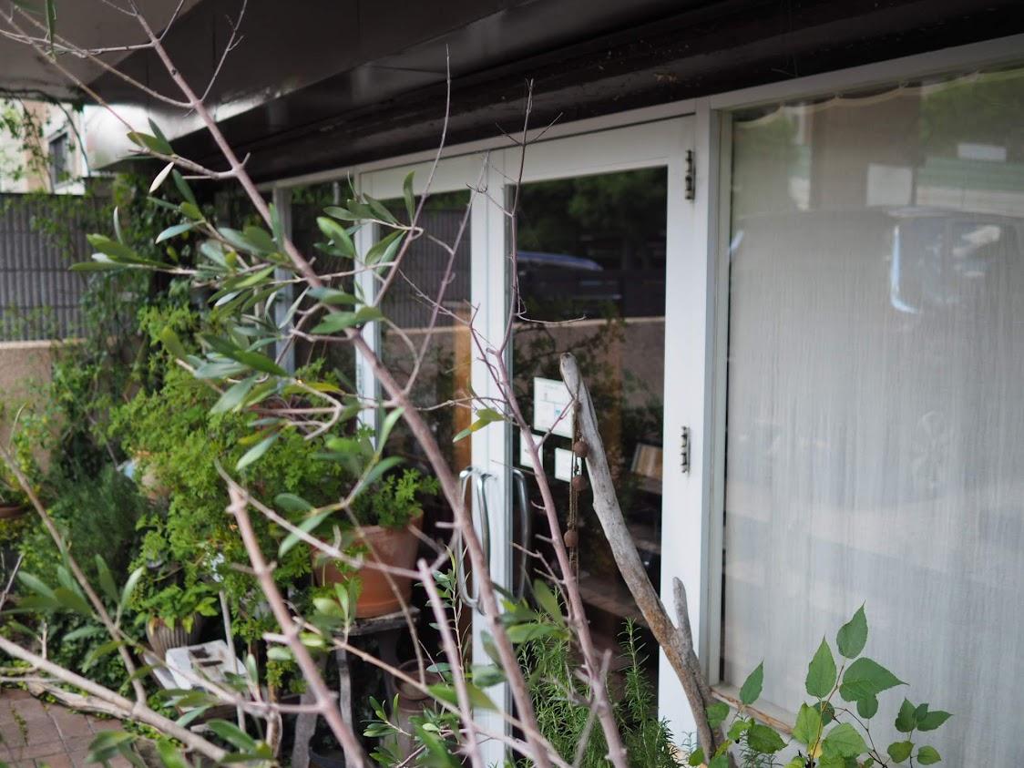 aoiku cafeの入り口