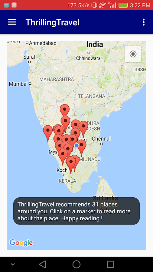 ThrillingTravel App- screenshot