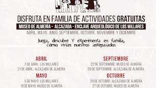Actividades didácticas para las familias en los museos de la provincia de Almería.