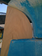 Photo: close up of rudder addition with rudder centered