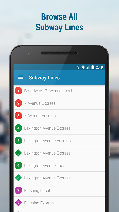 NYC Subway and Bus (w MTA Map)- screenshot