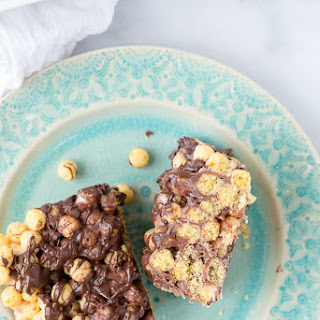 No Bake Peanut Butter Chocolate Cereal Bars {15 Minute Recipe}