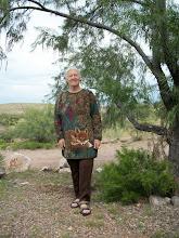 "Photo: Karin models a pullover for ""Karin's Flea Market"""
