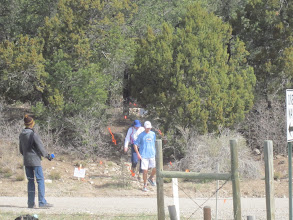 Photo: Some runners coming down the trail from Cedro Peak