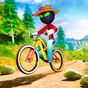 Stickman BMX Uphill Rider - Cycle Stunts