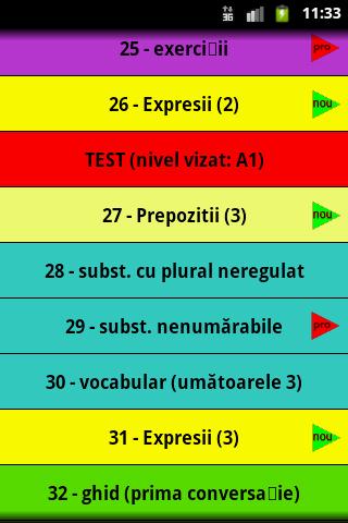 Invata engleza - screenshot