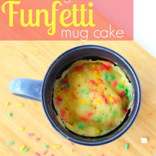 Gluten Free Funfetti Cake in a Mug