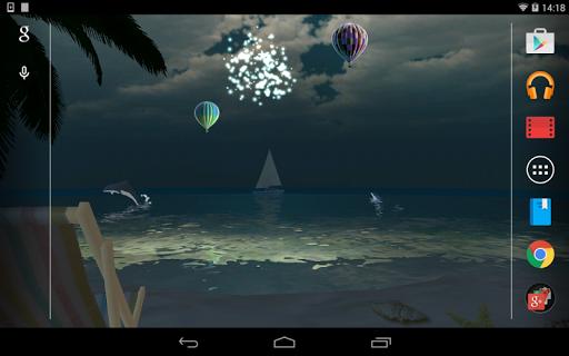 無料个人化AppのOCEAN BEACH 3D ライブ壁紙 記事Game