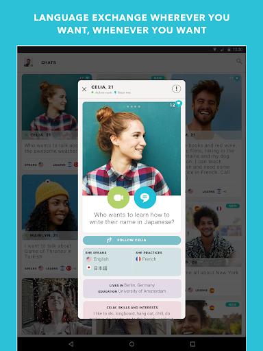 Tandem Language Exchange: Speak any language 1.7.7 screenshots 9