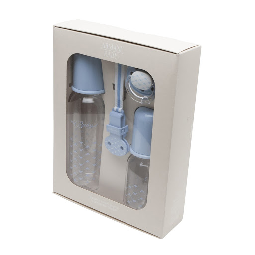 Primary image of Emporio Armani Pacifier & Bottle Gift Set