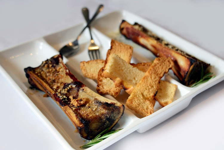 Carne's roasted bone marrow doused in sage butter.