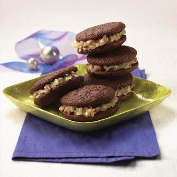German Chocolate Sandwich Cookies