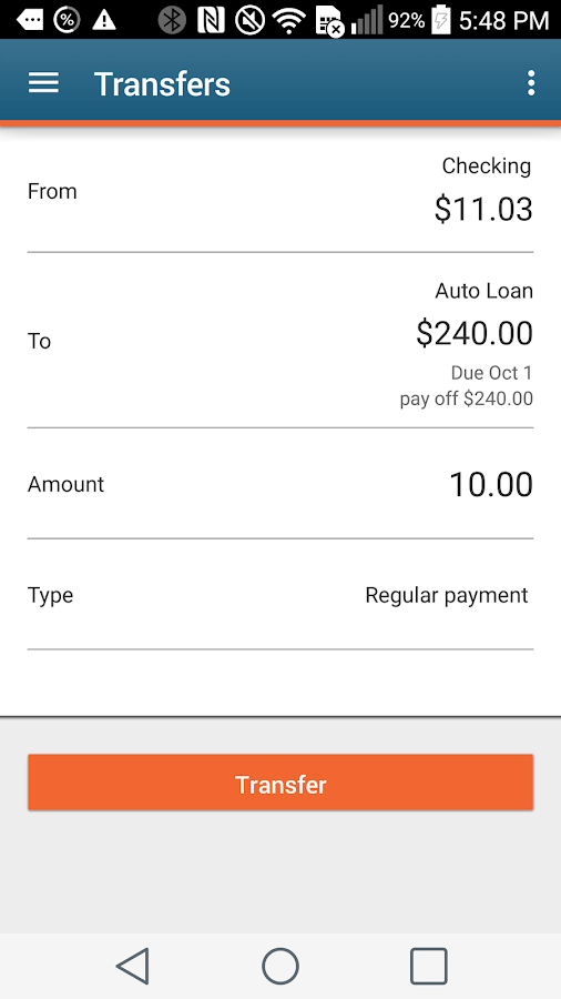 GE Credit Union Mobile Banking- screenshot