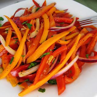 Warm Bell Pepper Salad.