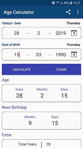 Age Calculator by Date of Birth - Revenue & Download