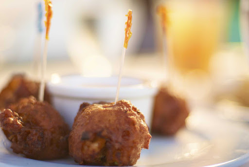 Bahamas-conch-fritters.jpg - Try a local delicacy, conch fritters, while visiting Paradise Island in the Bahamas.