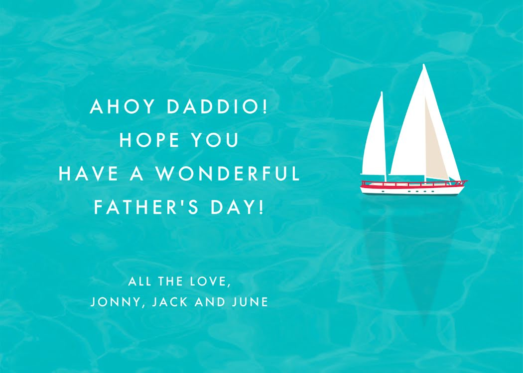 Ahoy Daddio! - Father's Day Card Template