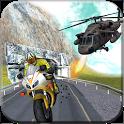 Gunship Thief Attack:Bike Race icon