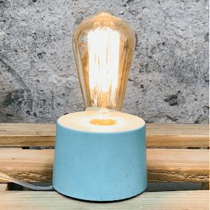 lampe béton design vert d'eau