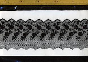 Photo: №825561-992チュールレース黒:巾80mm