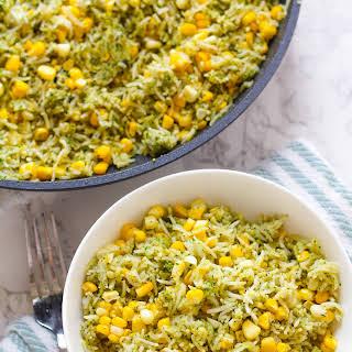 Basil Pesto & Roasted Corn Rice.