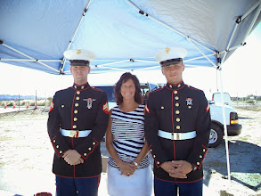 Photo: Cindy and the Marines