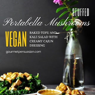 Vegan Stuffed Portabella Mushrooms