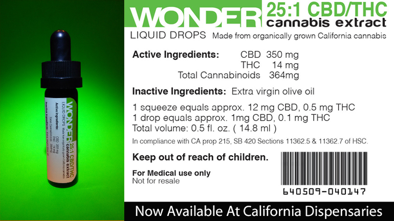 Wonder CBD Liquid Drops Cannabis Extract