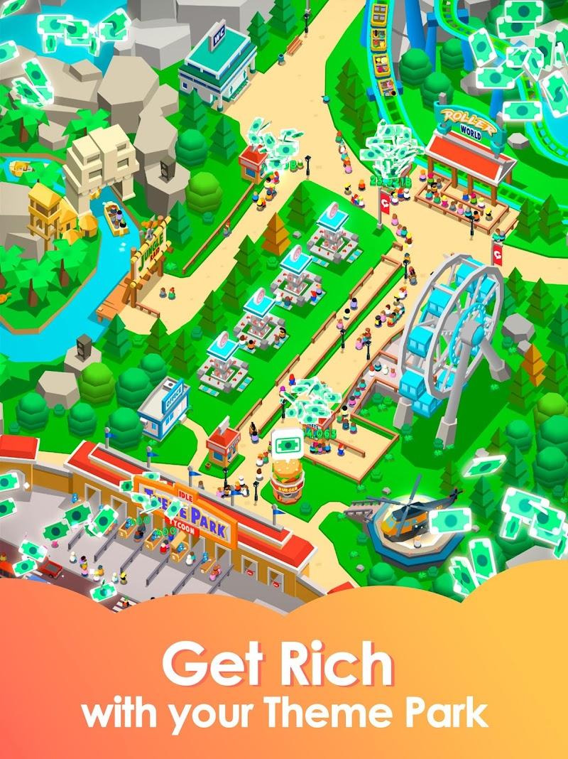 Idle Theme Park Tycoon - Recreation Game Screenshot 6