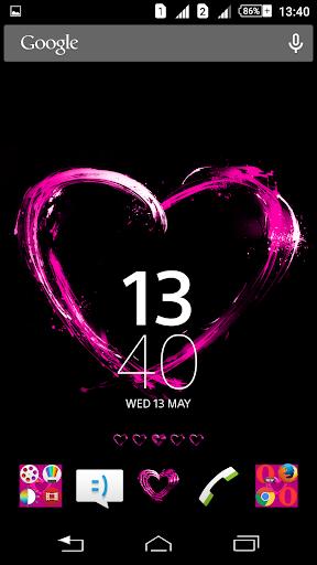 Pink Hearts Xperien Theme