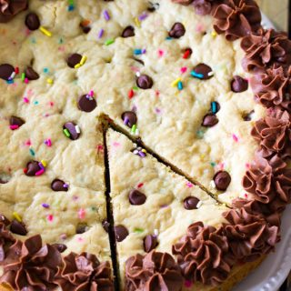 Chocolate Chip Cookie Cake.