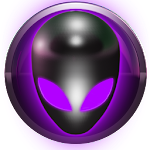 poweramp skin alien purple Icon