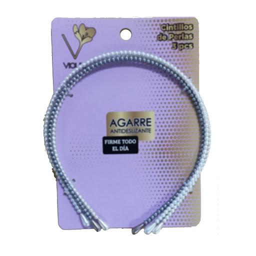 cintillos de perla violet x3und