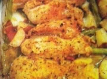 Garlic & Lemon Chicken/green beans & red potatoes