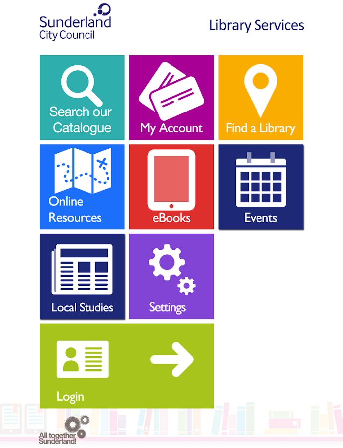 Sunderland Libraries- screenshot