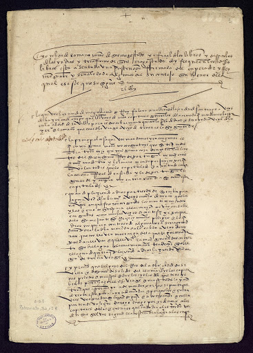 Order by Charles I to Ferdinand Magellan and Rui Faleiro / Page 01