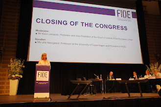 Photo: Closing of the Congress  • Ms Ulla Neergaard, Professor at the University of Copenhagen and President of FIDE