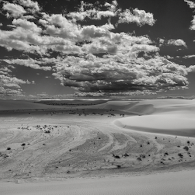 Relief  by Michael Keel - Black & White Landscapes ( white sands national monument, new mexico )
